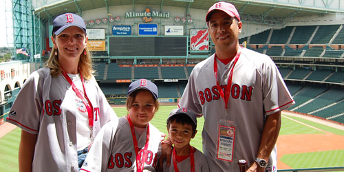 Red Sox fans at Minute Maid Park