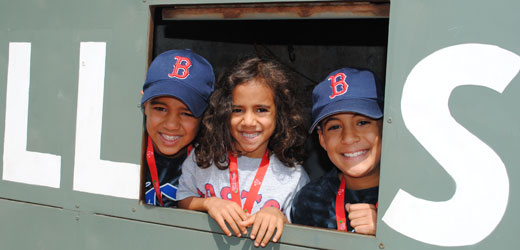 Red Sox fans at Fenway Park