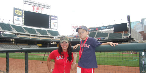 Red Sox fans at Target Field