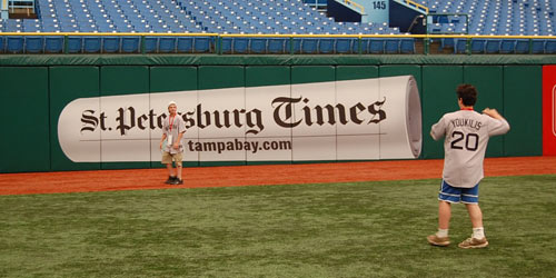 Red Sox fans at Tropicana Field