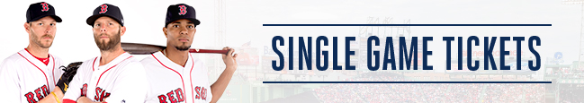 Red Sox Single Game Tickets