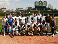 Participants of the Union League Boys & Girls Club RBI program compete for the Championship at Wrigley Field.