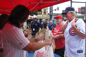Cubs Wives Wrigley Field Food Drive