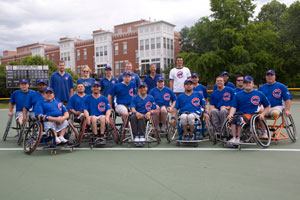 The RIC Cubs pose for a team picture at California Park - the first wheelchair baseball park in Illinois.