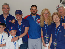 David DeJesus with 3 generations of Cub Fans!