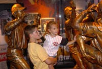 Young fans enjoying the Hall of Fame & Museum