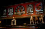 Marty and inductees on stage
