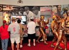 Fans exploring the Reds Hall of Fame