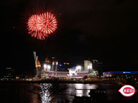 Fireworks over Great American Ball Park