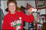 Ruth Hartzell with Reds soap