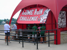The Home Run Challenge booth