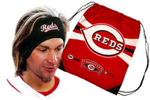 Reds headband and backpack