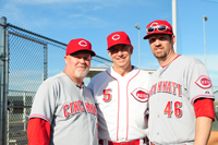 Enjoying Reds Fantasy Camp with former Reds greats