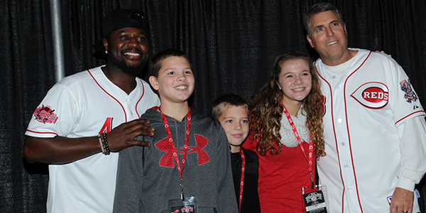 Brandon Phillips and Bryan Price with Fans