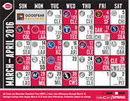 Calendar View of 2016 Spring Training Schedule