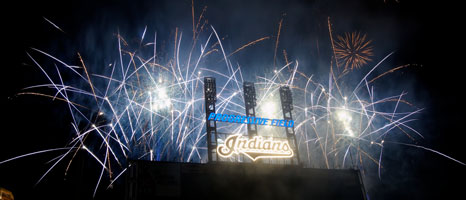 Progressive Field with Fireworks