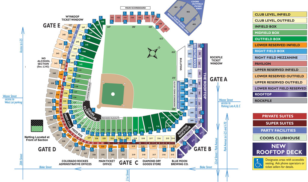 Coors field seating map mlb com