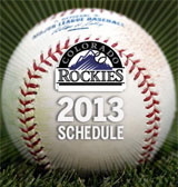2013 Rockies Schedule