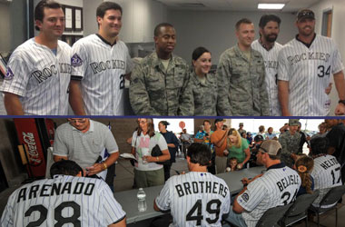 Rockies visit Buckley Air Force Base