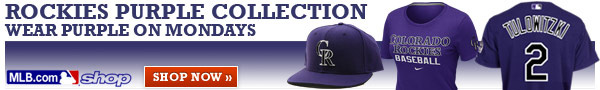 Rockies Purple Collection.  Wear purple on Mondays.  Shop now.