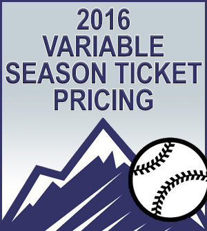 2016 Variable Season Ticket Pricing