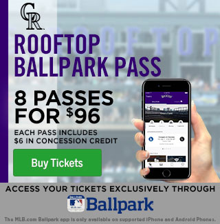 Rooftop Ballpark Pass. 8 passes for $96!