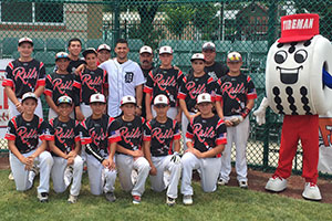 Jose Iglesias suprises youth baseball players.