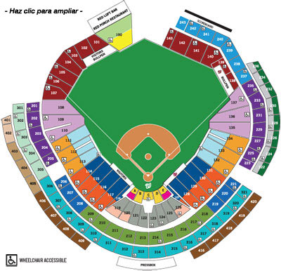 Mapa de Asientos del Nationals Park