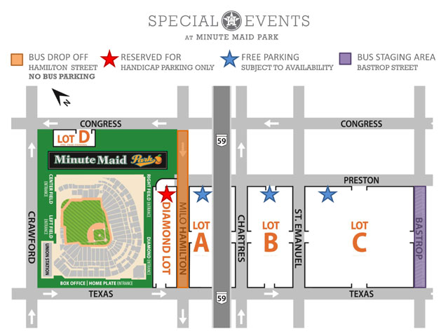 Veterans Day Parking Map