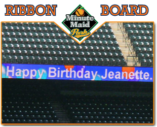 Minute Maid Park Ribbon Board