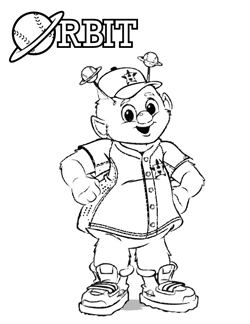 Orbit Coloring Pages