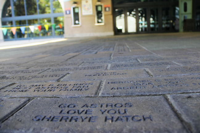 Get your personalized message outside Minute Maid Park