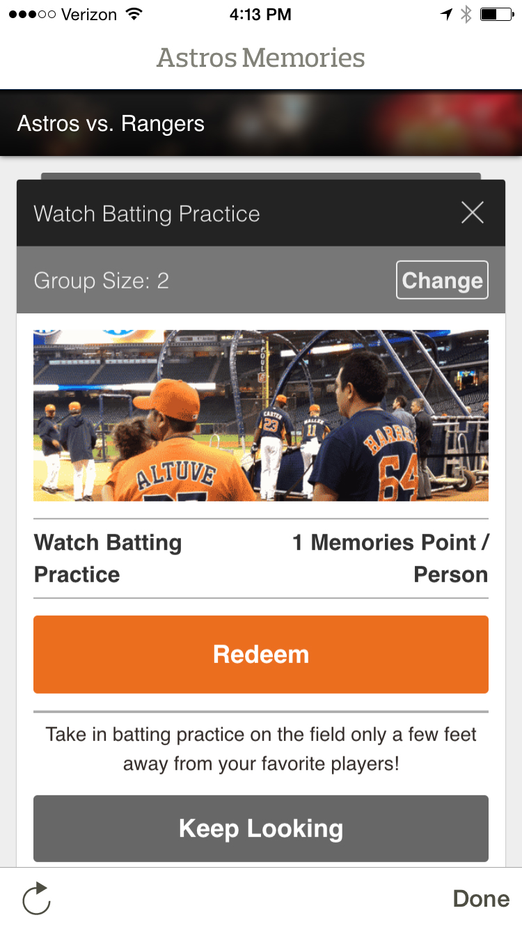Astros Memories Transfer Points - Step 1