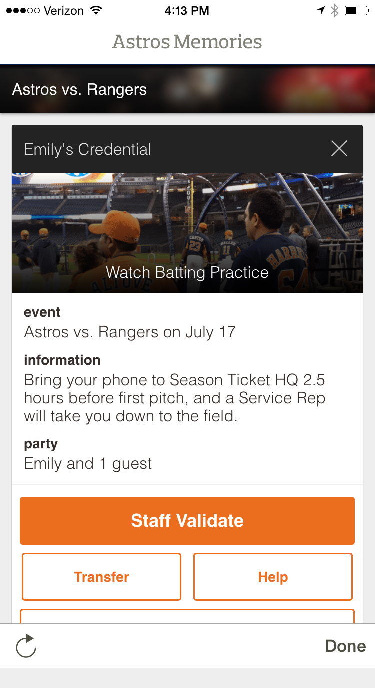 Astros Memories Transfer Points - Step 2
