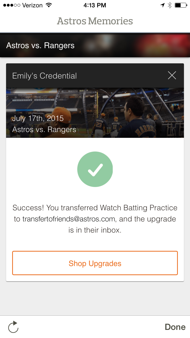 Astros Memories Transfer Points - Step 4