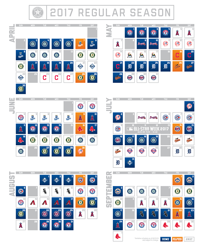 photo relating to Astros Schedule Printable titled Astros Launch 2017 Agenda