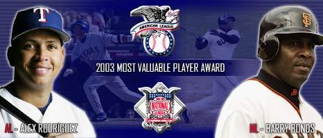 2003 MLB Awards   MLB com