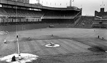 Polo Grounds IV, shown in 1954. (AP)
