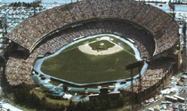Aerial view of Memorial Stadium, 1978