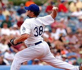 Gagne in a new Dodger uniform