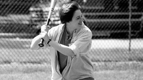 Elena Kagan's batting stance