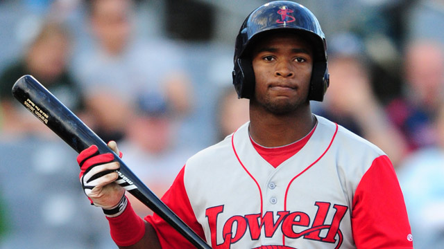 Red Sox prospect prefers ballpark to backfield