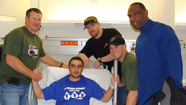 Hospital stop impacts Marlins visiting troops