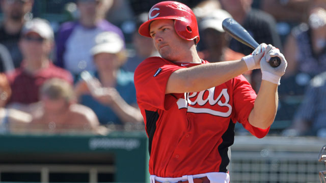 Heisey ready to battle for a spot on Reds' bench