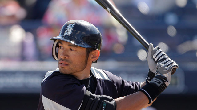Ichiro donating to relief effort through Red Cross