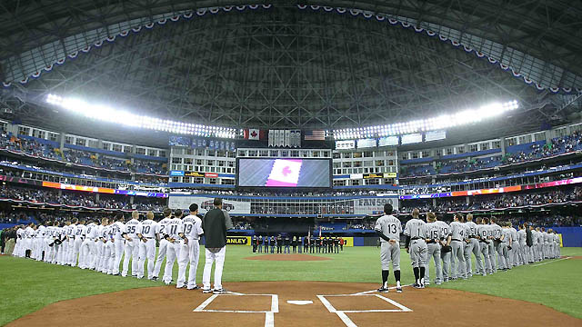 Workers ready Rogers Centre for Opening Day