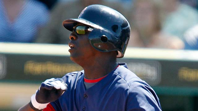 Hazelbaker comes up big for Red Sox in win