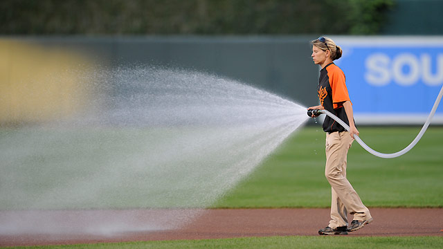 Sherry preparing pristine field for O's opener