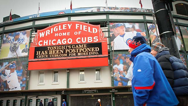 Weather postpones Cubs' game with Padres