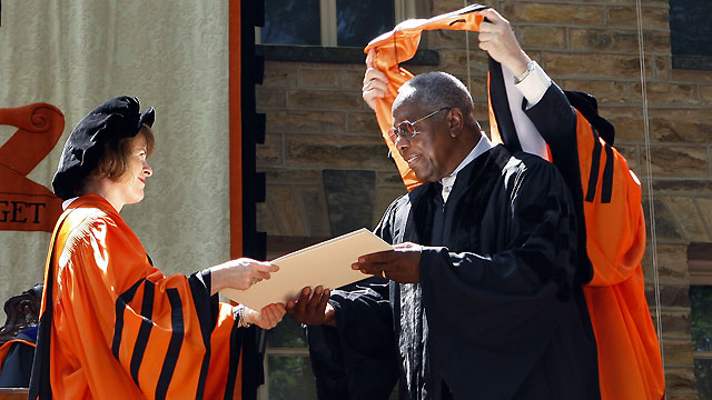Aaron receives honorary degree from Princeton